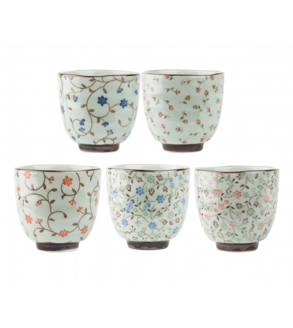 Set de 5 tasses à thé