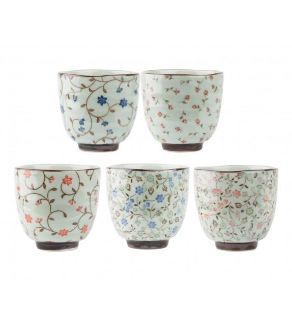 Set of 5 teacups