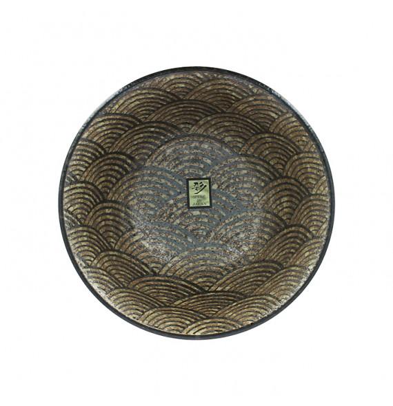 Raw brown single bowl