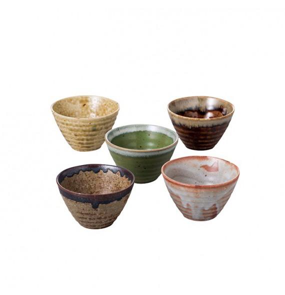 Set of 5 tea cups