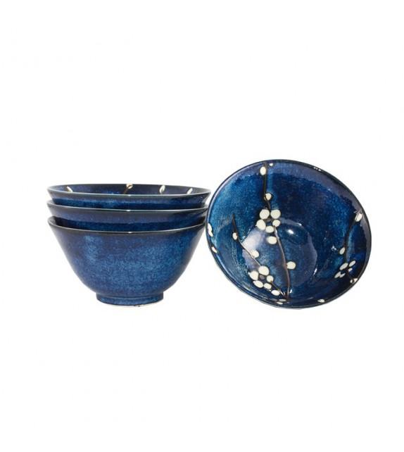 Set de 4 bols bleutés