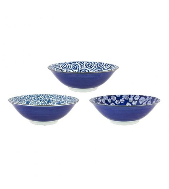 Set de 3 bols porcelaine