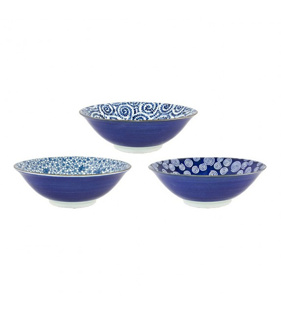Set of 3 porcelain bowls