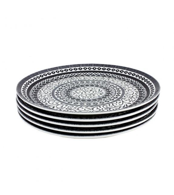 Set de 5 assiettes black arabesque