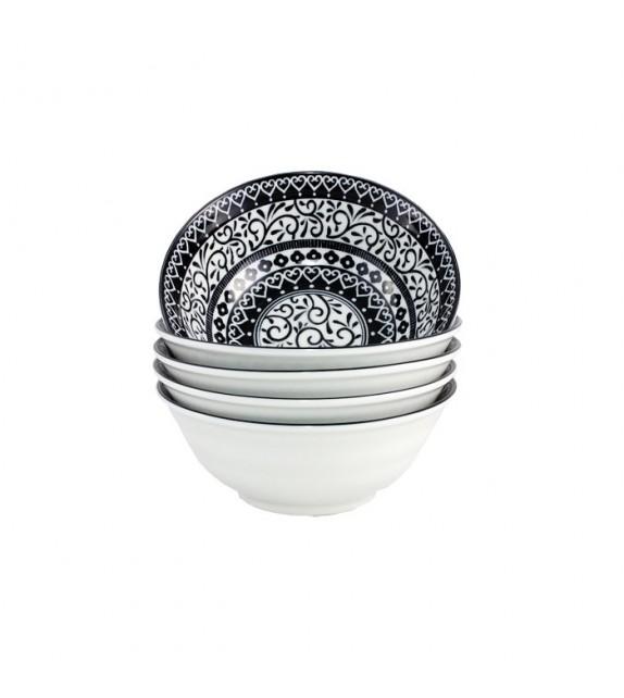 Set of 5 bowls arabesque black