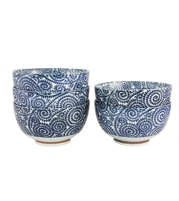 Set of 5 bowls tako karakusa