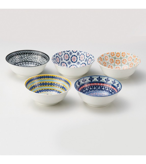 5 bowl Pottery field set