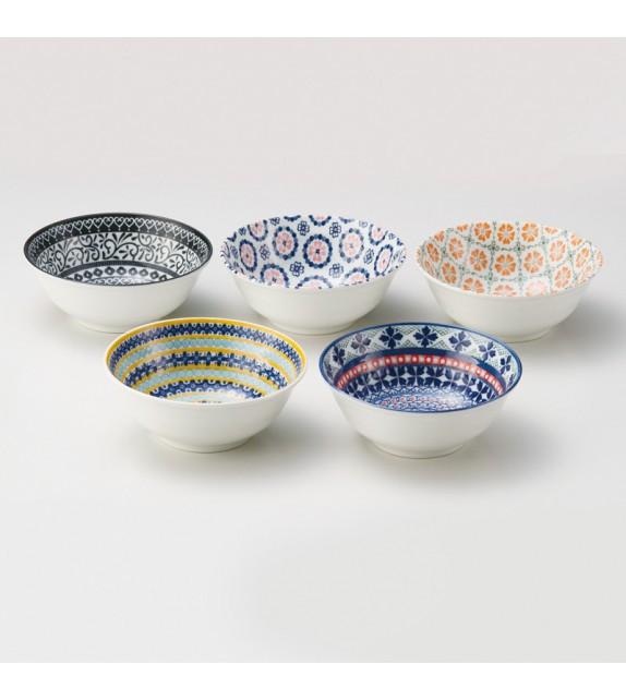 Set de 5 bols Pottery field