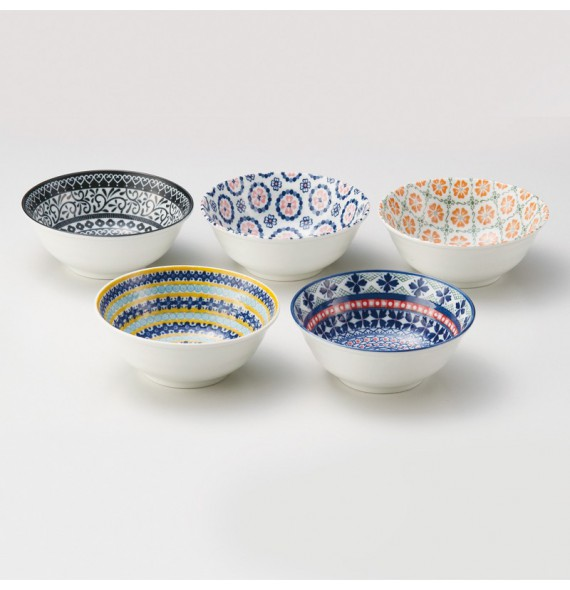 Set of 5 bowls