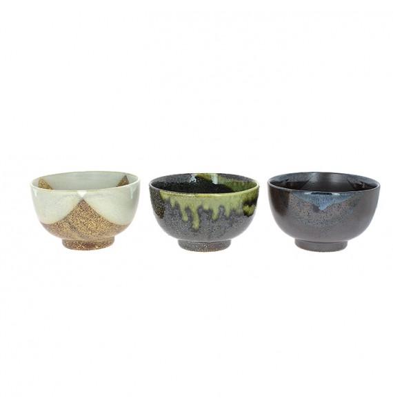 Set of 3 bowls donburi