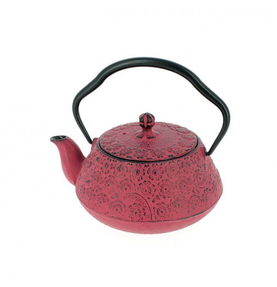 Teapot cast iron Japanese sakura