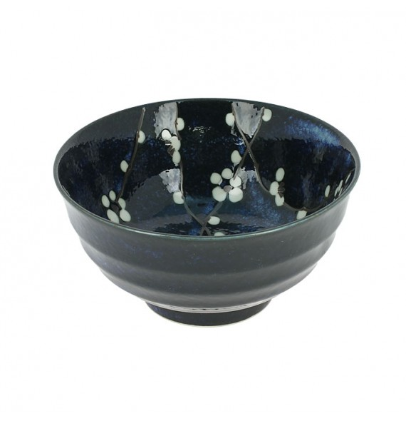 Medium bowl in the unit, cherry blue