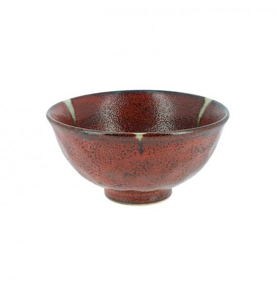 "Ciotola in pietra arenaria rossa, stile di ""raku"""