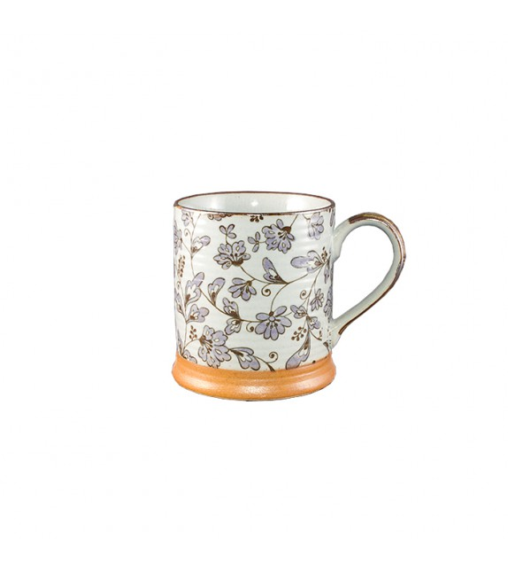 Mug japonais fleurs mauve