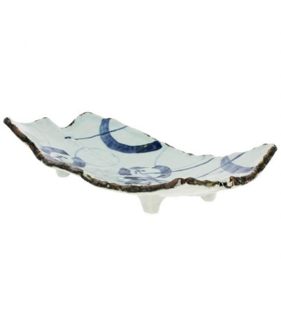 Plat rectangle avec pied