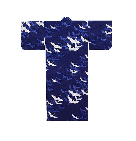 Yukata stork blue