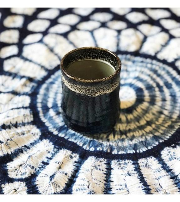 Tea cup style yunomi black
