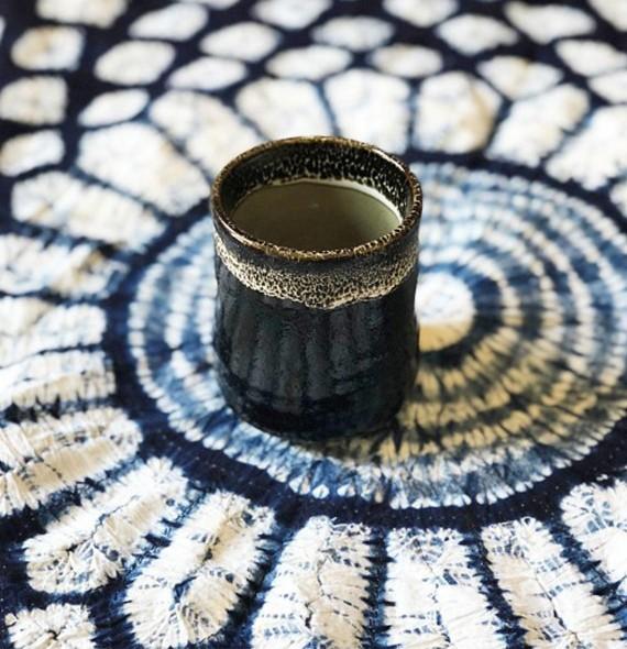 Tee-Tasse stil yunomi schwarz