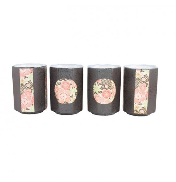 Set de 4 tasses hexagonale