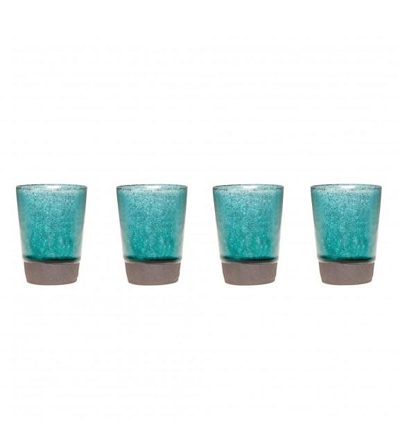 Set di 4 tazze turchese