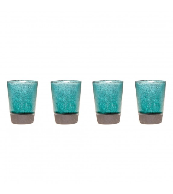 Set of 4 turquoise cups