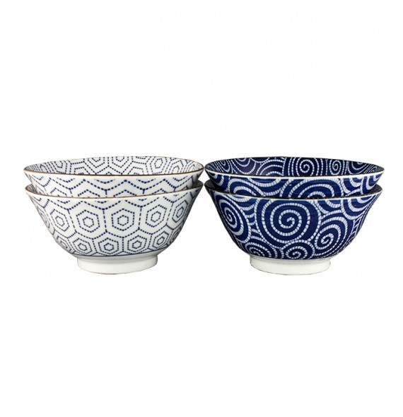 Set of 4 bowls of rice graphic