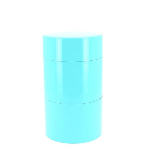 Boîte à thé 2 étages bleu