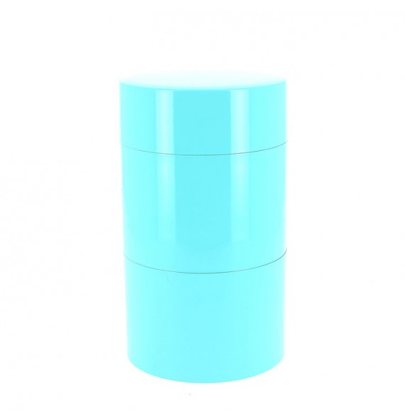 Teedose 2 etagen blau
