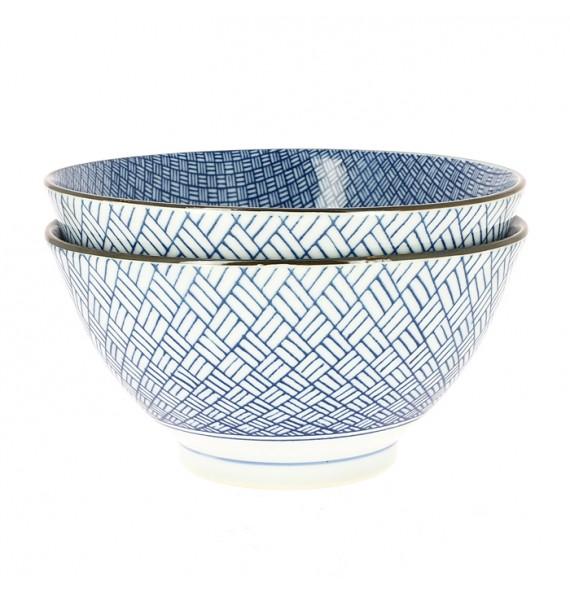 "Set of 2 large bowls of ""ramen"""