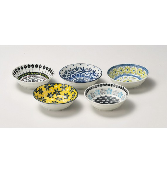 "Set of 5 bowls ""Pottery field"""