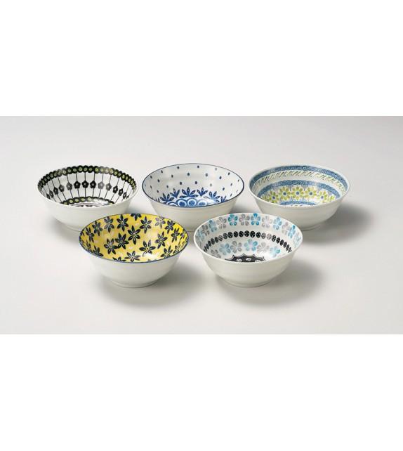 """Set de 5 bols """"Pottery field"""""""