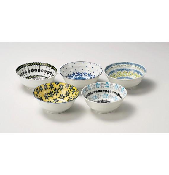 """Set di 5 ciotole in Ceramica di campo"""""""