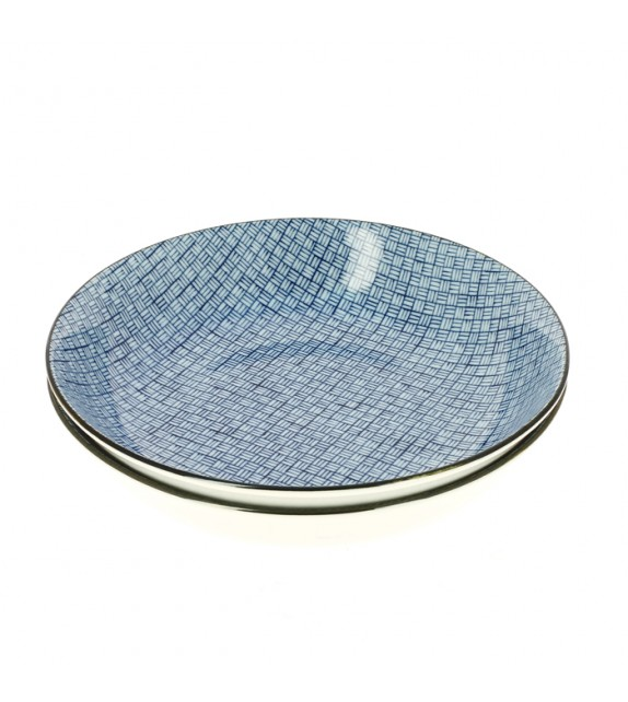 Set de 2 assiettes losange