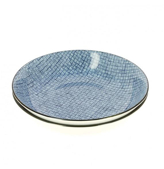 Set of 2 plates diamond