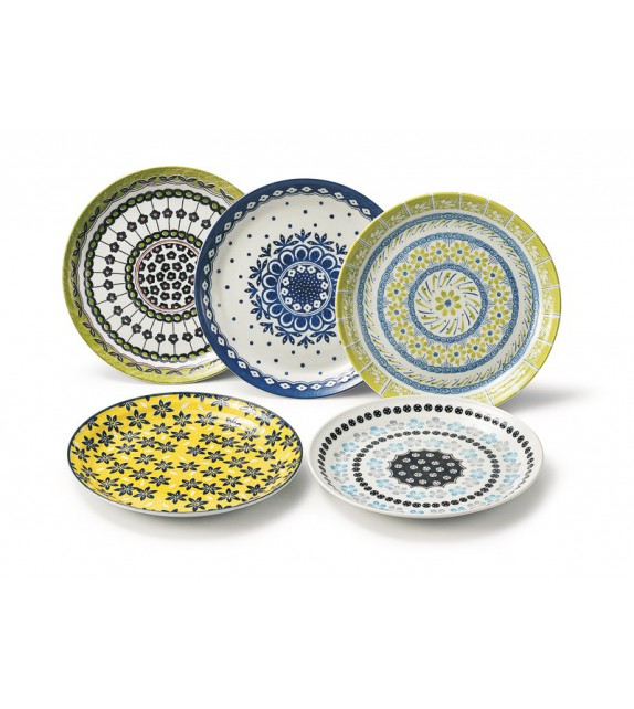 """Set de 5 assiettes """"pottery field"""""""
