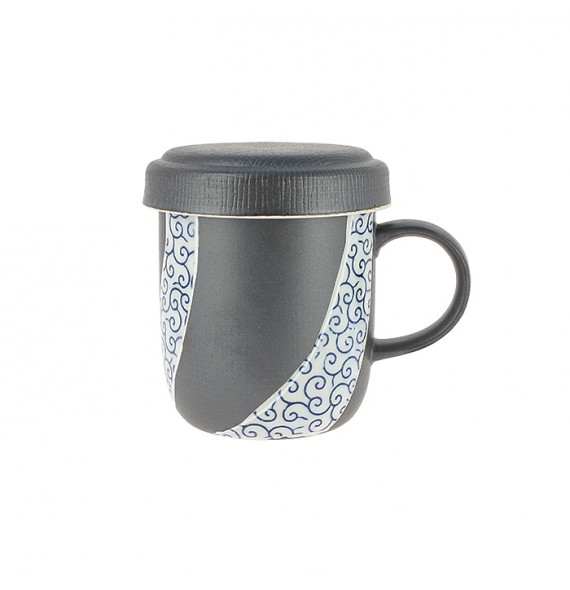 Tisanière in ceramica con coperchio