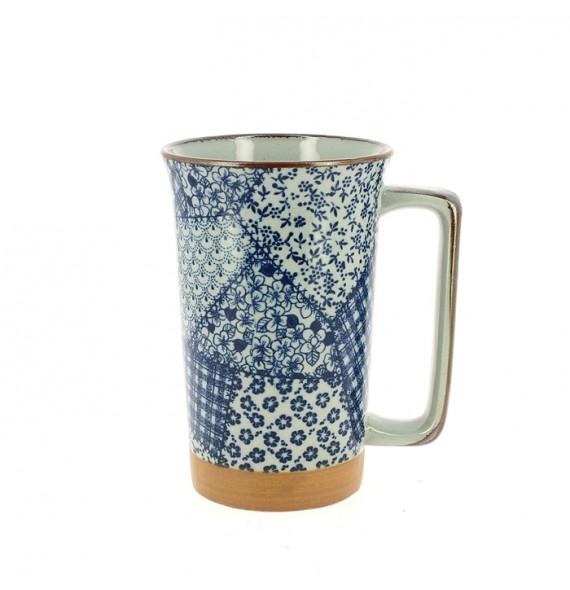 Large mug-Japanese patchwork