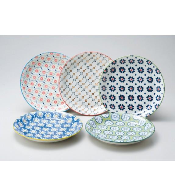 "Set of 5 plates ""pollen"""