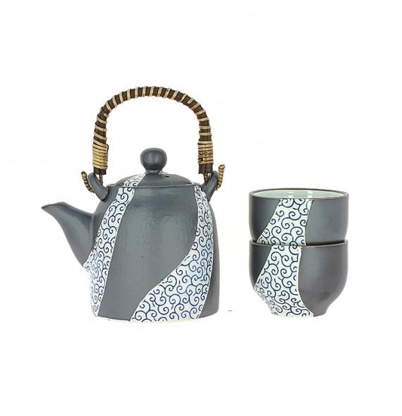 Service à thé jaune