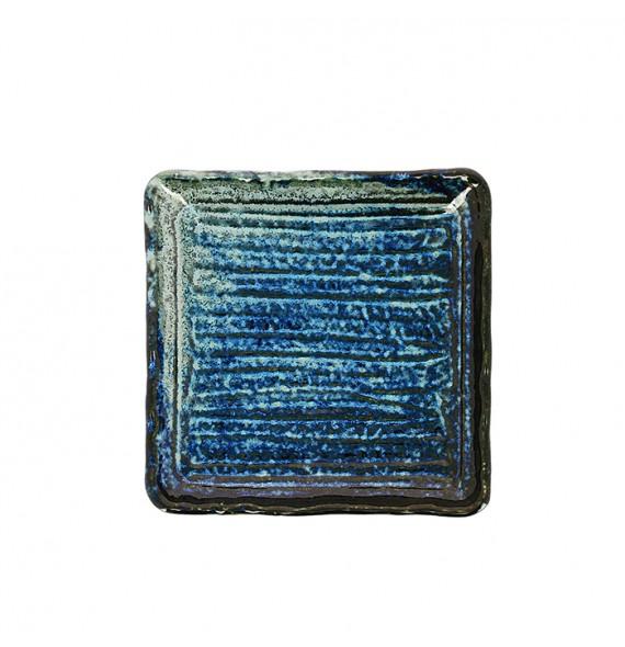 Plat carré bleu nuit