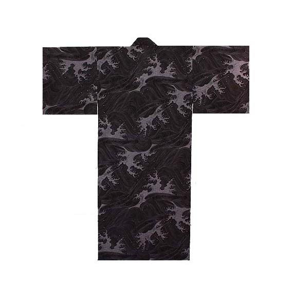 Yukata nami purple