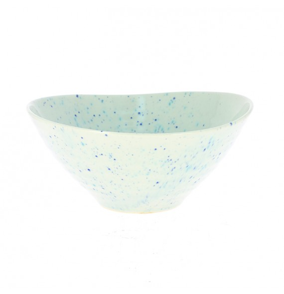 Large bowl white irregular edges