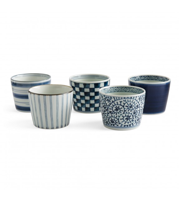 Set of 5 bowls with soba
